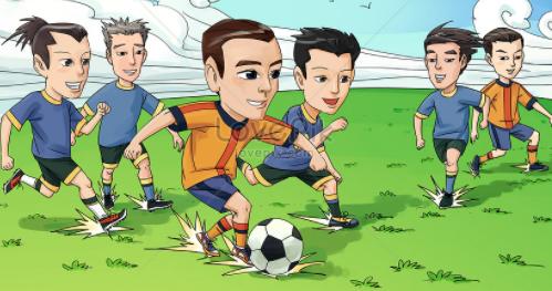 permulaan permainan sepak bola disebut
